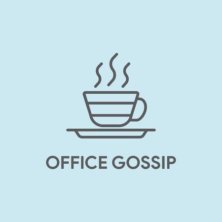 communication cartoon: OFFICE GOSSIP CONCEPT