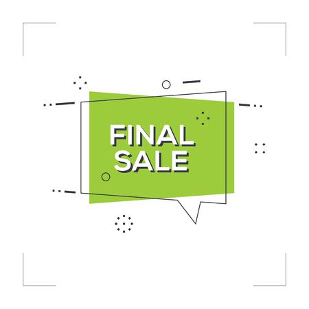 Final Sale Concept Stock Vector - 85861272