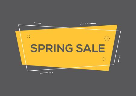 Spring sale concept