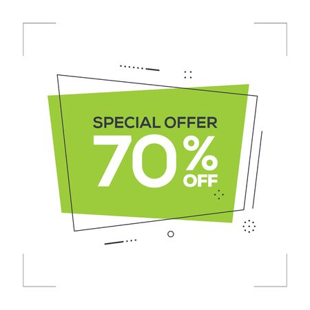 Special Offer 70% off Concept