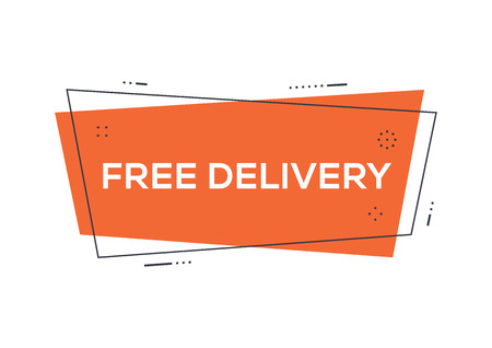 delivery service: Free delivery concept