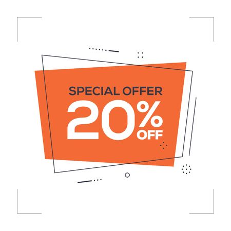 Special Offer 20% off Concept
