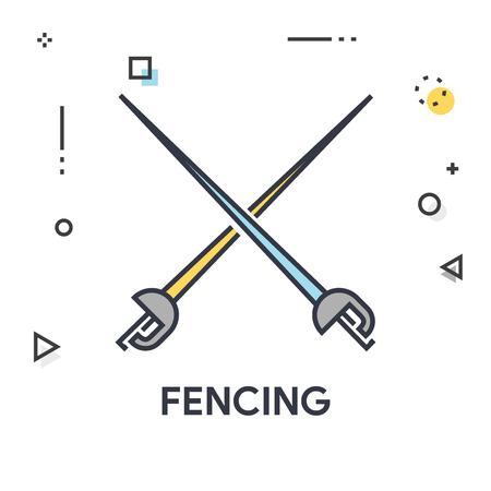 Fencing Icon Çizim
