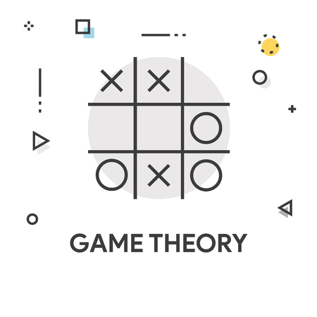 Game Theory Colored Line Icon