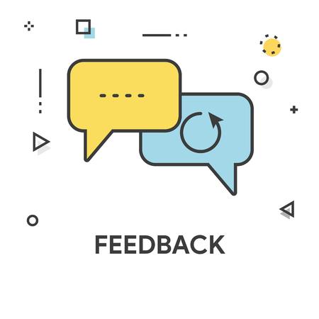 Feedback Colored Line Icon