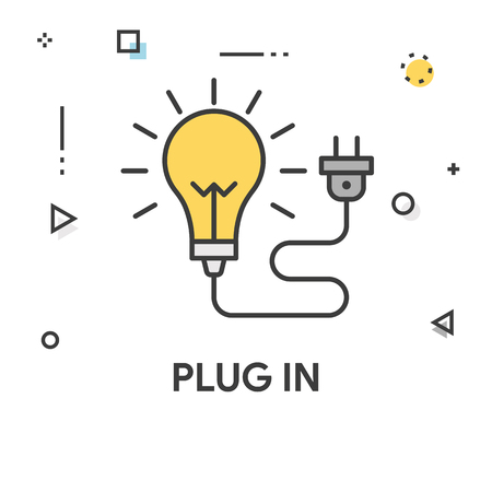 Plug In Colored Line Icon
