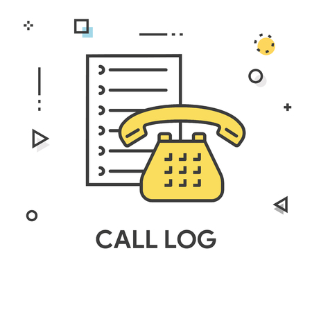 Call Log Colored Line Icon