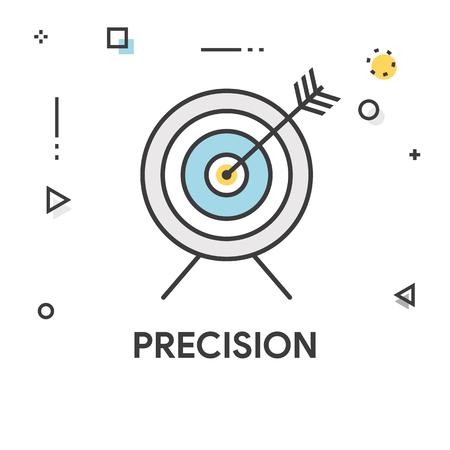 Icono De Línea De Color De Precisión Ilustraciones Vectoriales, Clip ...