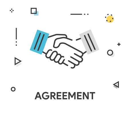 Agreement Colored Line Icon Vetores