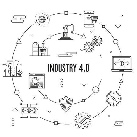 Industry 4.0 Concept vector illustration. Illustration