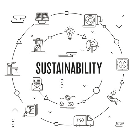 Sustainability Concept vector illustration.