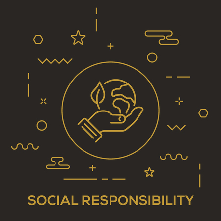 Social Responsibility Concept vector illustration.