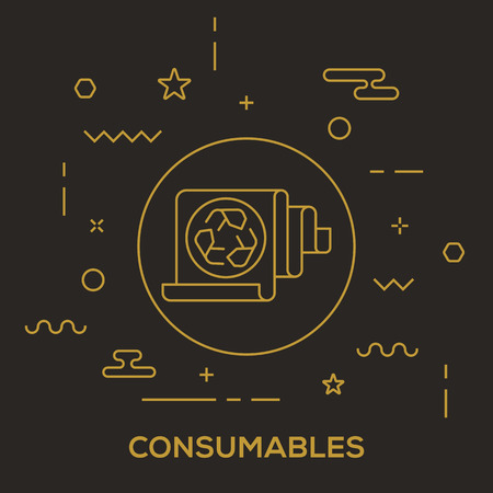 Consumables Concept vector illustration.