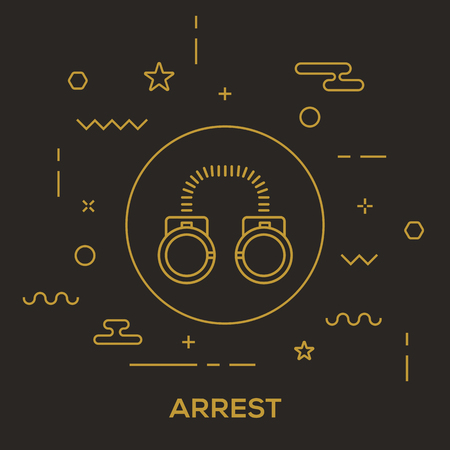 Arrest Concept vector illustration.