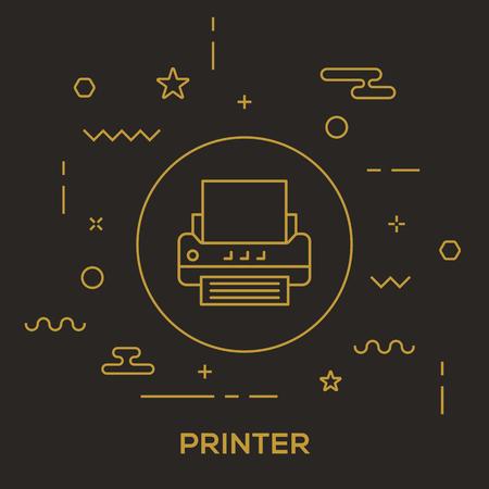 Printer Concept vector illustration. Illustration