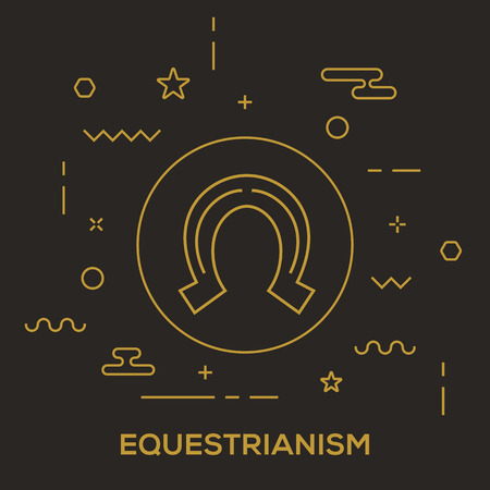 Equestrianism Concept vector illustration.