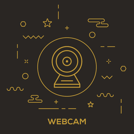 Webcam Concept vector illustration.