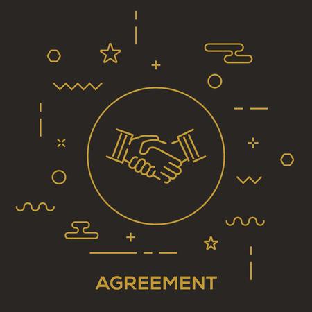 Agreement Concept vector illustration.
