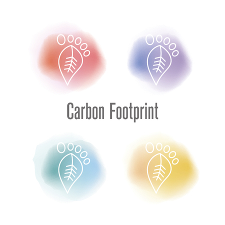 the greenhouse effect: Carbon Footprint Concept