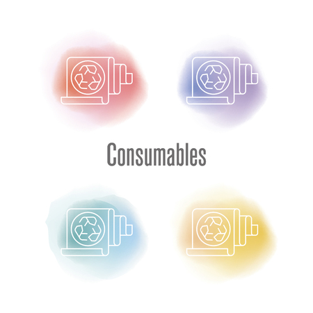 Consumables Concept 向量圖像