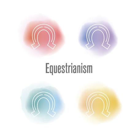 Equestrianism Concept Ilustração