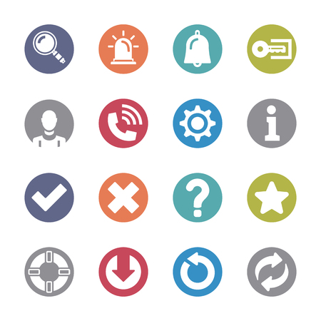 Basic Interface  Colored Icon Set