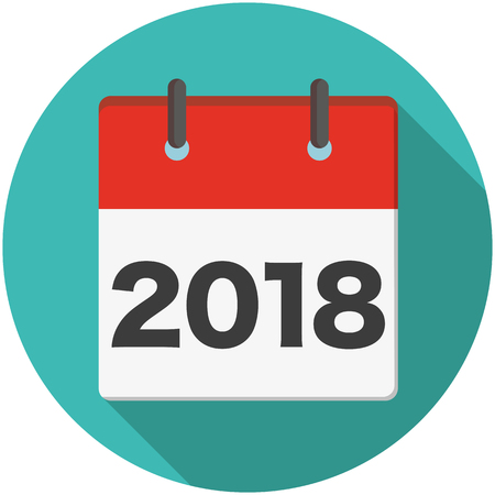 2018 calendar page.