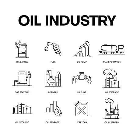 OIL INDUSTRY CONCEPT  イラスト・ベクター素材