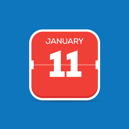 January 11 Calendar Flat Icon