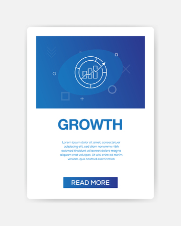 GROWTH ICON INFOGRAPHIC 向量圖像
