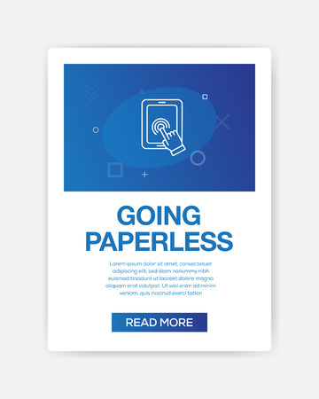 GOING PAPERLESS ICON INFOGRAPHIC 向量圖像