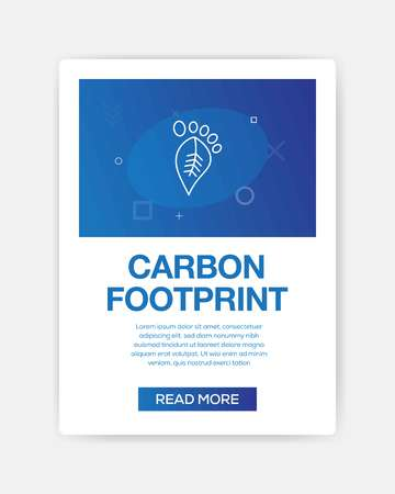 CARBON FOOTPRINT ICON INFOGRAPHIC