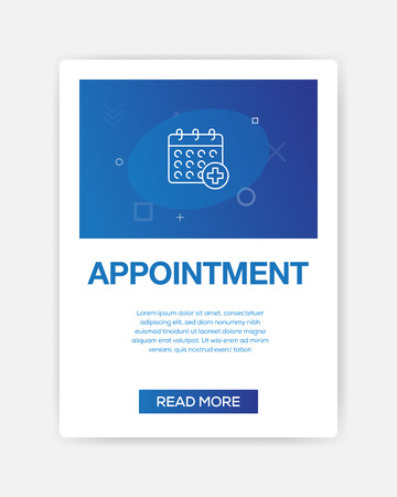 APPOINMENT ICON INFOGRAPHIC
