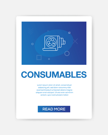 CONSUMABLES ICON INFOGRAPHIC 向量圖像