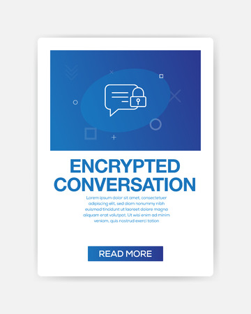 ENCRYPTED CONVERSATION ICON INFOGRAPHIC