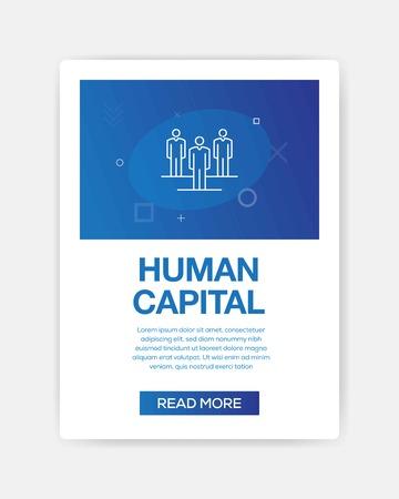 HUMAN CAPITAL ICON INFOGRAPHIC