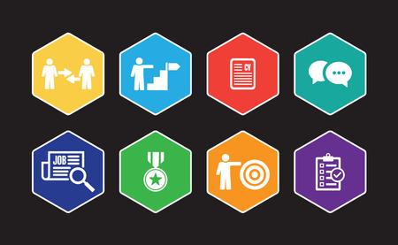 Job Search Infographic Icon Set Illustration