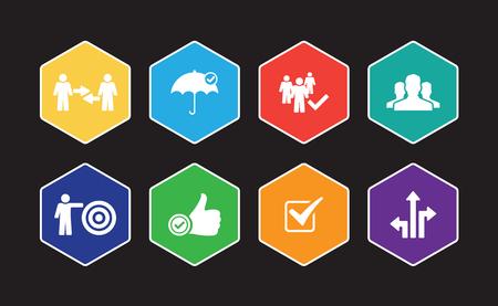 Ensemble d'icônes infographiques de confiance Banque d'images - 101787754