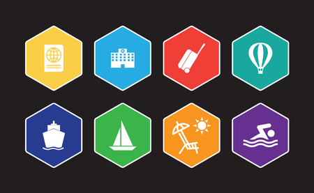 Tourism And Travel Infographic Icon Set Illustration