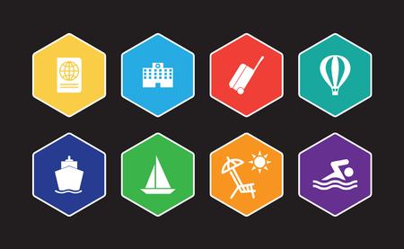 Tourism And Travel Infographic Icon Set Illustration