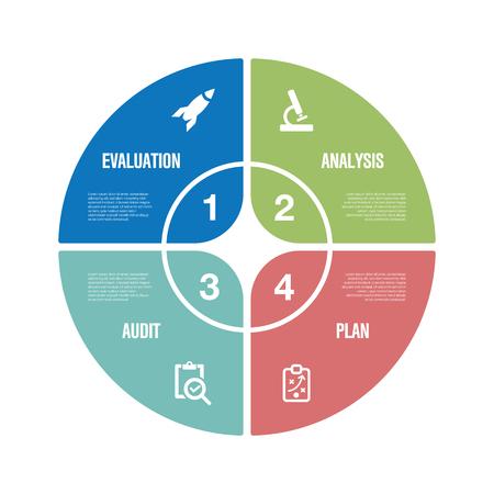 Assessment Infographic Icon Set Illustration