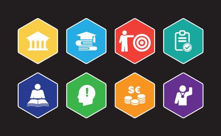 Scholarship Infographic Icon Set
