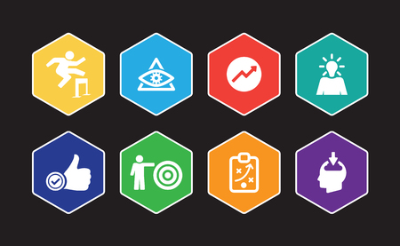 Personal Growth Infographic Icon Set Vectores