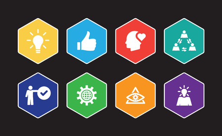 Excellence Infographic Icon Set 向量圖像