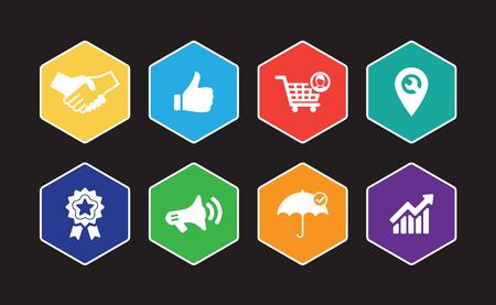 Customer Relationship Infographic Icon Set