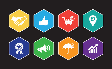 Customer Relationship Infographic Icon Set