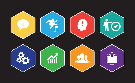 Knowledge Management Infographic Icon Set Фото со стока - 101747648