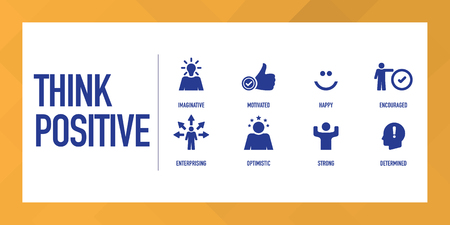 Think Positive Infographic Icon Set