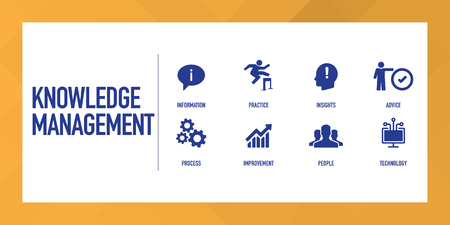 Knowledge Management Infographic Icon Set