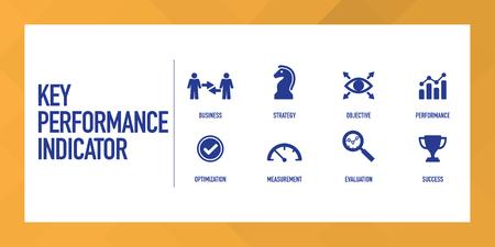 Key Performance Indicator Infographic Icon Set Illustration